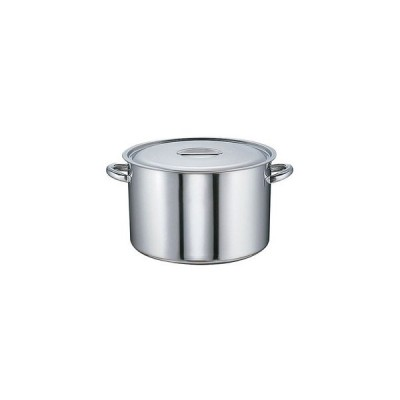 半寸胴鍋 モリブデン  目盛付  27cm(7-0025-0201)