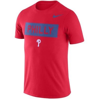ナイキ メンズ MLB Philadelphia Phillies Nike Local Phrase Performance T-Shirt Tシャツ 半袖 ドライフィット Red