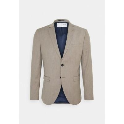 セレクテッドオム ジャケット&ブルゾン メンズ アウター SLHSLIM MYLOBILL STRUCTURE  - Blazer jacket - sand