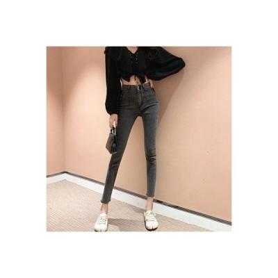 【送料無料】ポップ パンツ 女 ファッション ハイウエスト 着やせ ジーンズ 韓国風 | 346770_A63407-9964406