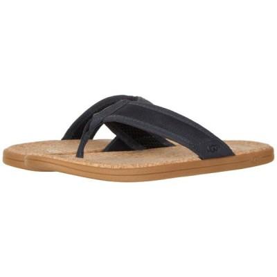 UGG アグ サンダル メンズ レザー ビーチサンダル おしゃれ シーサイド フリップ UGG Men's Seaside Flip Navy Leather