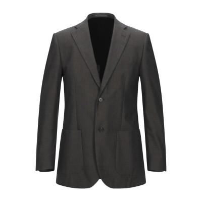 LUBIAM テーラードジャケット ダークブラウン 48 コットン 100% テーラードジャケット