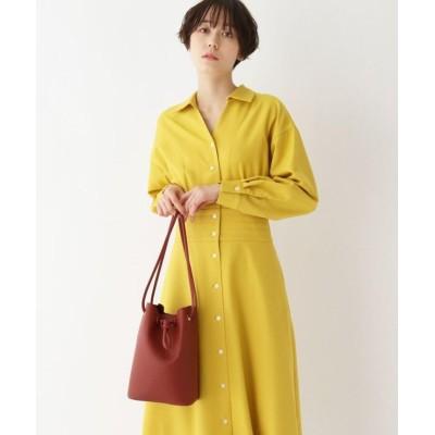 【オペークドットクリップ】 シュリンククルミハトメ巾着バッグ レディース レンガ 00 OPAQUE.CLIP