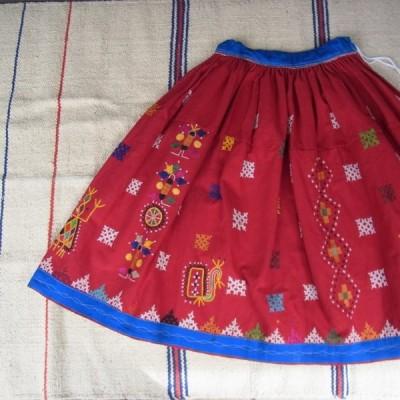 グジャラート刺繍ギャザーロングスカート TYPE:C