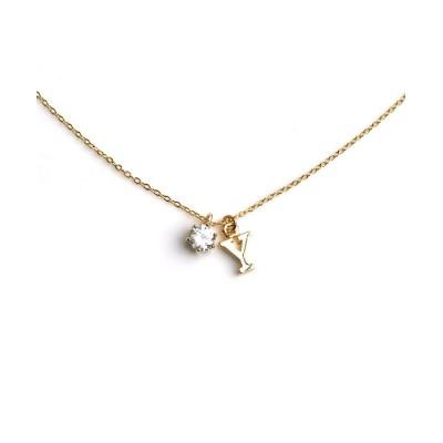 (cream dot/クリームドット)アジャスターまで可愛い、繊細な造りのイニシャルネックレス/レディース ゴールド系9