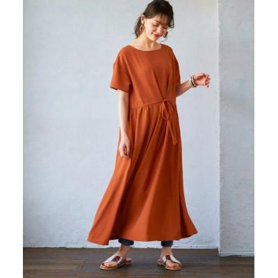 大きいサイズ 涼しげな素材感あふれるジャガード織ワンピース ,スマイルランド, ワンピース, plus size dress