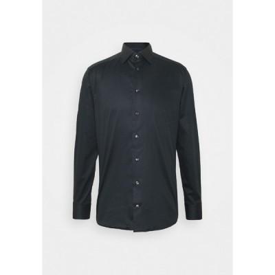 エトン シャツ メンズ トップス SOLID TWILL STRETCH - Formal shirt - black