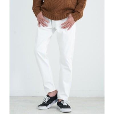 パンツ デニム ジーンズ ホワイトパンツ 日本製 国産 赤耳 デニム アンクルパンツ