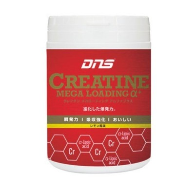CREATINE Mega Loading α+ クレアチンメガローディングアルファプラス レモン風味 210g DNS