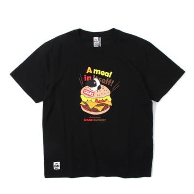 チャムス半袖Tシャツ 半袖 バーガーTシャツ CH01-1683-K001ブラックM