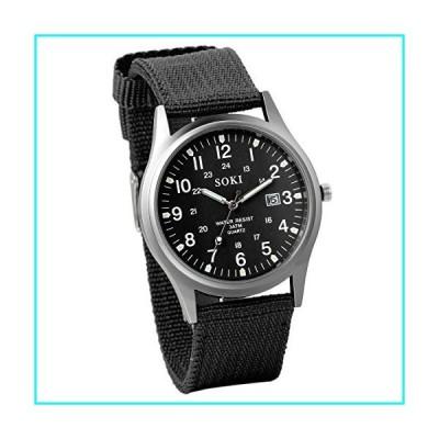 JewelryWe キッズ腕時計 ファッション カジュアル ビジネス ナイロンベルト アナログ スポーツ クォーツ 合金 誕