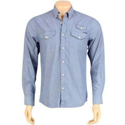 ザハンドレッズ The Hundreds メンズ シャツ トップス Butter Long Sleeve Shirt blue