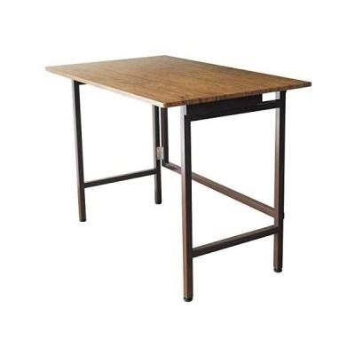 折りたたみデスク たためる FLAP(フラップ) 幅100cm はば100 デスク テーブル ブルックリン おしゃれ(ブラウンパイン テーブル)