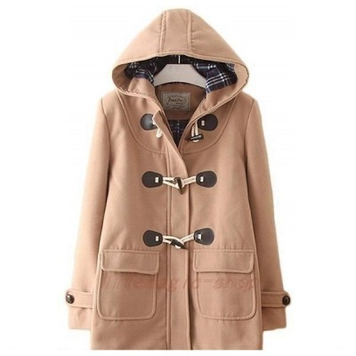 コートダッフルコートアウターレディースウールコートフード付きショート丈かわいい無地大きいサイズオーバー学生保温防寒通勤通学