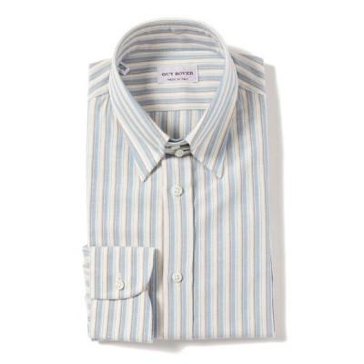 ◎GUY ROVER / コットンリネン オルタネイトストタイプ タブカラーシャツ