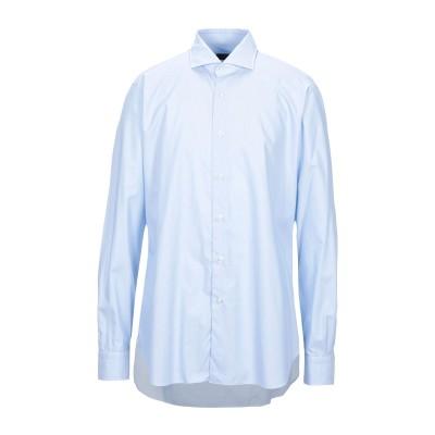 BARBA Napoli シャツ スカイブルー 45 コットン 100% シャツ
