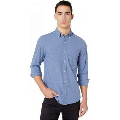 ジェイクルー J.Crew メンズ シャツ スリム トップス Slim Stretch Secret Wash Shirt in Heathered Organic Cotton Heather Royal