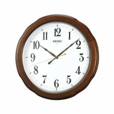 SEIKO セイコークロック 連続秒針スイープ シンプル おやすみ秒針 電波壁掛け時計KX326Bアナログ 木枠 茶 掛時計 おしゃれ