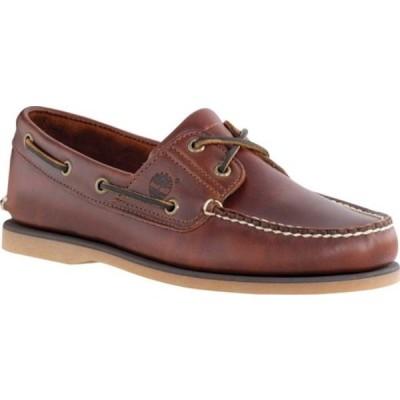 ティンバーランド デッキシューズ シューズ メンズ Classic Boat 2-Eye (Men's) Rootbeer Smooth Leather