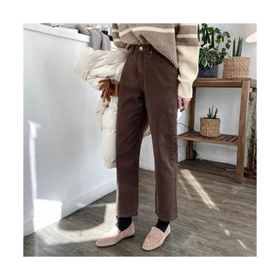 MINIBBONG レディース パンツ Brownie Boy Fit Pants - Same day delivery in size M