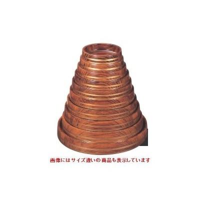 桶 D.X富士型桶 紫檀帯金 底黒塗 尺2寸 高さ62 直径:370 /業務用/新品