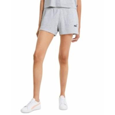 プーマ レディース ハーフパンツ・ショーツ ボトムス Ribbed Active Logo Shorts Light Gray Heather