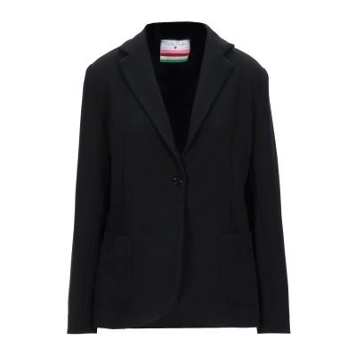 DANIELA PANCHERI テーラードジャケット ブラック 44 レーヨン 96% / ポリウレタン 4% テーラードジャケット