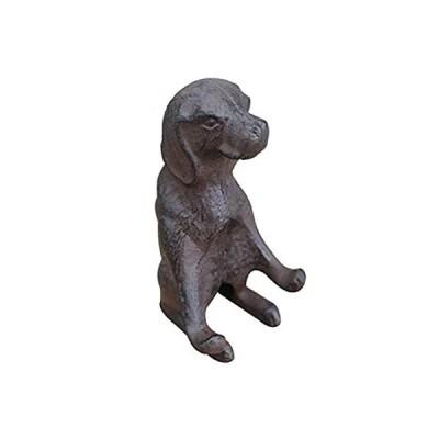 特別価格Olpchee 鋳鉄製携帯電話スタンドホルダー スマートフォンスタンド デスク装飾像 犬 ブラウン好評販売中