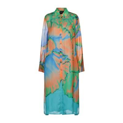 FONTANA COUTURE 7分丈ワンピース・ドレス グリーン 38 シルク 100% 7分丈ワンピース・ドレス