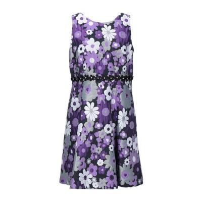 LANACAPRINA ミニワンピース&ドレス パープル 48 ポリエステル 76% / コットン 24% ミニワンピース&ドレス