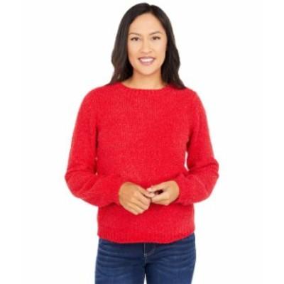 マイケルコース レディース ニット・セーター アウター Texture Puff Sleeve Sweater Crimson