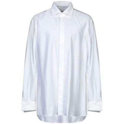 TIZIANO REALI シャツ ホワイト 46 コットン 60% / レーヨン 40% シャツ