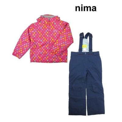 ニーマ nima「ジュニアサイズ調節機能付きスキーウエアー 上下セット/ピンク」JR-8057-74P