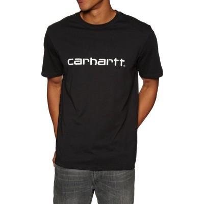 カーハート Carhartt WIP メンズ Tシャツ トップス carhartt script short sleeve t-shirt Black White