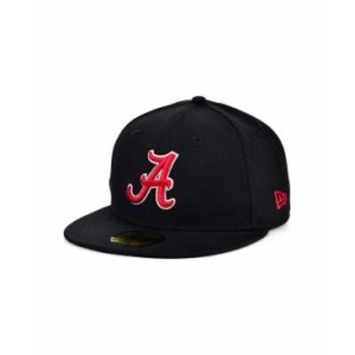 ニューエラ レディース 帽子 アクセサリー Alabama Crimson Tide Authentic Collection 59FIFTY Cap Black