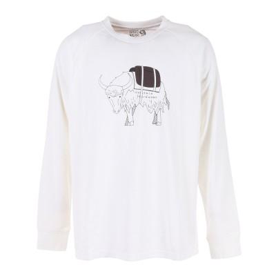 マウンテンハードウエ長袖Tシャツ ロンT ヤクロングスリーブTシャツ OE2848 100ホワイトS
