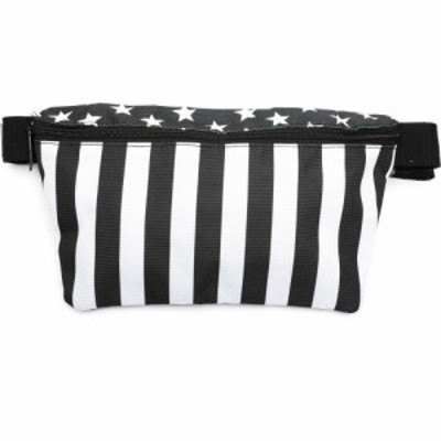 フィデリティ FYDELITY メンズ ボディバッグ・ウエストポーチ バッグ xl ultra-slim fanny pack: black flag Black/White