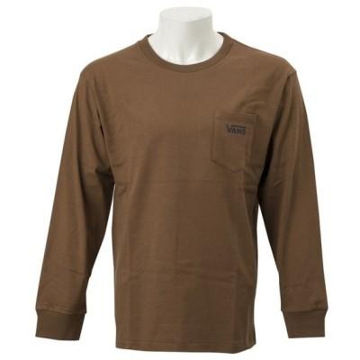 VANSウェア Earthcolor L/S T-Shirts ヴァンズ ロングスリーブTシャツ VA-L057 BROWN