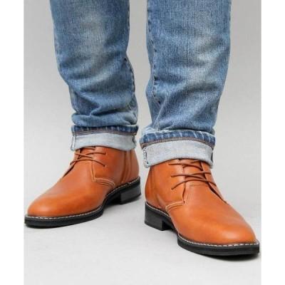 ブーツ 【glabella/グラベラ】 PUレザー ロングノーズ チャッカブーツ