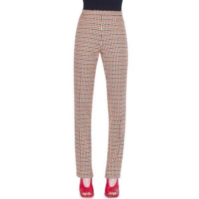 アクリス プント レディース カジュアルパンツ ボトムス Francoise Houndstooth-Jacquard Slim-Leg Pants