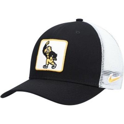 ナイキ メンズ 帽子 アクセサリー Iowa Hawkeyes Nike Classic 99 Alternate Logo Trucker Adjustable Snapback Hat Black