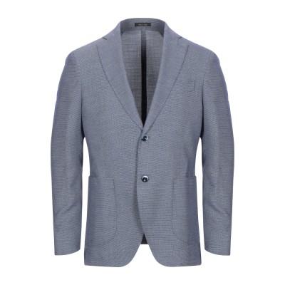 BRERAS Milano テーラードジャケット ダークブルー 50 コットン 70% / リネン 30% テーラードジャケット