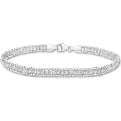 メイシーズ Macy's レディース ブレスレット ジュエリー・アクセサリー Cubic Zirconia Tennis Bracelet in Sterling Silver Cubic Zirconia