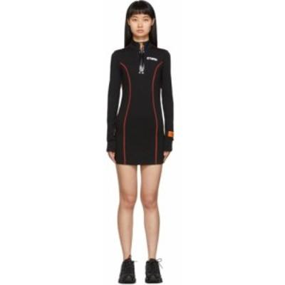 ヘロン プレストン Heron Preston レディース ワンピース ワンピース・ドレス Black Active Dress Black/White