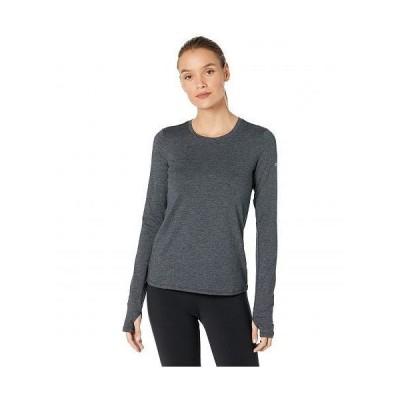 ALO エーエルオー レディース 女性用 ファッション アクティブシャツ Finesse Long Sleeve Top - Dark Heather Grey
