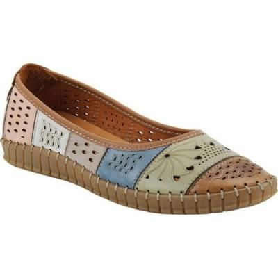 スプリングステップ Spring Step レディース スリッポン・フラット シューズ・靴 Elancer Flat Brown Multi Leather
