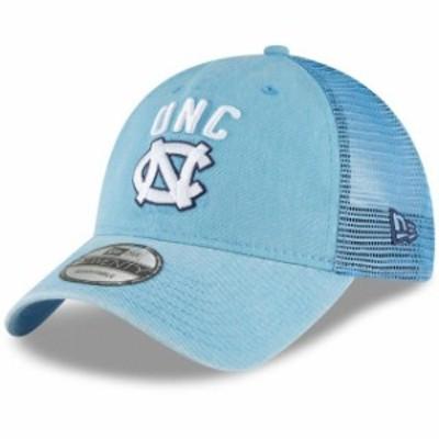 New Era ニュー エラ スポーツ用品  New Era North Carolina Tar Heels Carolina Blue Rugged Stack Trucker 9TWENTY Adjusta