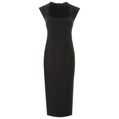 ドルチェ&ガッバーナ レディース ワンピース トップス Dolce & Gabbana Square-Neck Fitted Midi Dress -
