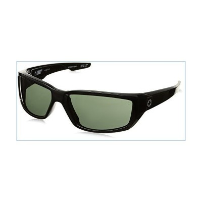 Spy Optic Men's Dirty Mo Rectangular Sunglasses, Black/Signature Happy Gray/Green, 59 mm並行輸入品