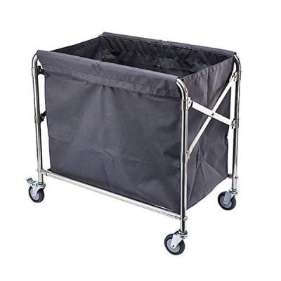 【送料無料】velocidad Serving Trolley Cart with Wheels Foldable Supply Cart Stainless Steel Detachable Oxford Cloth 4 Inch Wheel with